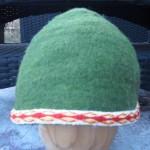 Chapeau en feutre, galon tissé aux plaquettes