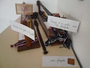 Outils metiers a tisser des galons Atelier de Julie